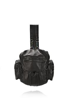 MINI MARTI IN WASHED BLACK WITH IRIDESCENT - Women Backpacks - Alexander Wang Official Site