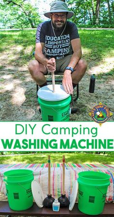 DIY Portable Laundry Washing Machine for Camping DIY Portable Laundry Washing Machine for Camping,Camping Hacks DIY Camping Laundry Washing Machine Tutorial – Need to wash your dirty clothes while camping? Camping Diy, Camping Survival, Camping Hacks With Kids, Camping Guide, Camping Checklist, Camping Meals, Family Camping, Outdoor Camping, Camping Essentials