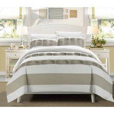 7-Piece Pleated Applique Oxford Duvet Set, White