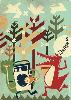 illustration / september-november 07 by iv orlov, via Behance