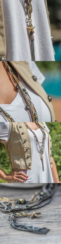Collares largos boho - collares largos étnicos