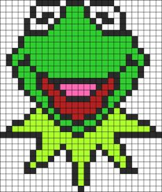 Kermit The Frog perler bead pattern