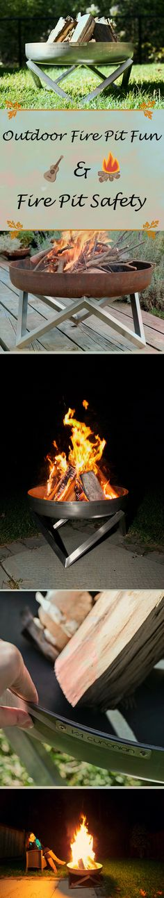 #outdoors #firepit #bonfire |Fire |pits provide light, warmth, coziness, ambiance, and a place to gather and entertain. It's no wonder that they are on ours wish lists