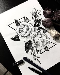 Rose and peony . . . . . #graphicart #linework #sketch_daily #supportart #flowerdrawing #art_spotlight #flowerillustration #onlyblackart #blacktattooart #tattoosketches #floraltattoodesign #lineart #flowertattoo #flowersketch #blackart #iblackwork #flowertattoodesign #tattooidea #arts_help #rose #blackworkers #supportartists #iblackwork #darkartists #botanicalart #tattoopins #ttblackink #botanicalillustration#rosetattoo