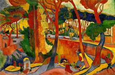 The Turning Road, L'Estaque - 1906  André Derain was a French artist, painter, sculptor and co-founder of Fauvism with Henri Matisse