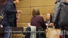 Głodny bezdomny próbował ukraść jedzenie. To jak reagowali ludzie...