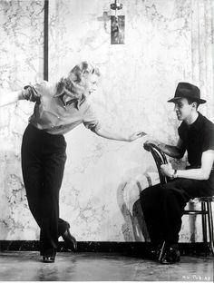 Ginger Rogers and Hermes Pan rehearsing, 1936