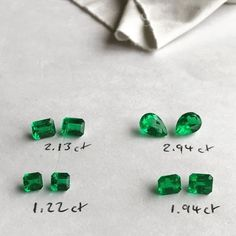 IEEX Emeralds - Vivid green pairs of minor oil Colombian emeralds, full of fire, expertly calibrated in our Bogota workshop by Ricardo. Perfect for earrings.  Prices by EMAIL - info@ieex.com.co