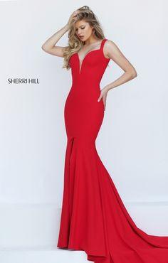 RED DRESS Sherri Hill 50125