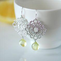 lemon drop earrings by joojooland