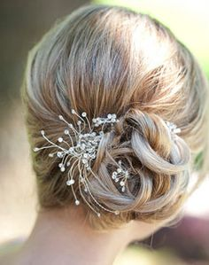 I like this but without the bling.  I am trying to find tight updos that I can wear with a tiara.