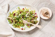 Kijk wat een lekker recept ik heb gevonden op Allerhande! Salade met mungbonen en groene asperges Dutch Kitchen, Pasta, Couscous, Superfoods, Cobb Salad, Quinoa, Salads, Veggies, Rice