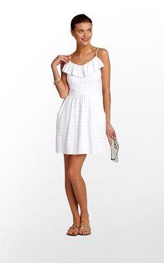 Carreen Dress in  Resort White Sweet As Sugar Eyelet $158 (w/o 6/3/12) #lillypulitzer #style #fashion