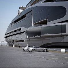 super cars and a yacht! Jet Ski, Jet Privé, Yacht Design, Super Yachts, Billionaire Lifestyle, Yacht Boat, Private Jet, Private Yacht, Water Crafts