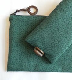 For him, green glasses case and handy zipped bag, gift set. £15.00