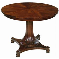 Round Regency Pedestal Table | Dining Tables | Tables | Furniture | ScullyandScully.com