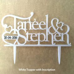 Bespoke Cake Topper (Designed to Specifications) Unique Cake Toppers, Personalized Cake Toppers, Cast Acrylic, Elegant Cakes, Confectionery, Silhouette Design, Creative Studio, Table Centerpieces, Special Day