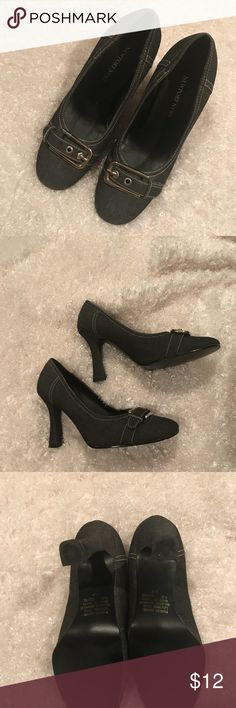 Newport News Heels with silver buckle Heels with silver buckle, very nice and only worn once to an indoor party. Look perfect condition and brand new. Size 6 1/2. Newport News Shoes Heels