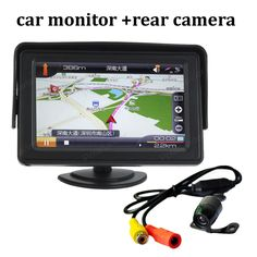 4.3 inch 480x234 2 AV input Car Rear View LCD Monitor with rearview reverse Camera parking System on-board Display