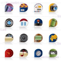 PhoneIcons Mix31 Icons, Tech, Accessories, Technology, Ikon, Icon Set, Ornament