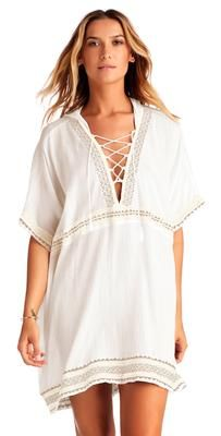Vitamin A Isabell Windswept Short Gauze Caftan in White WEG Fashion Books, Pop Fashion, Resort Wear Dresses, Sheer Cover Up, Putting Outfits Together, Tank Dress, Cold Shoulder Dress, Swimwear, How To Wear