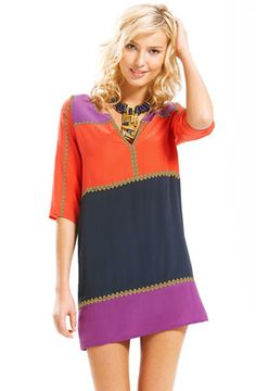 "Just closed my eyes at the price & bought it! I am definitely following this bright ""color blocked"" trend this spring!!"