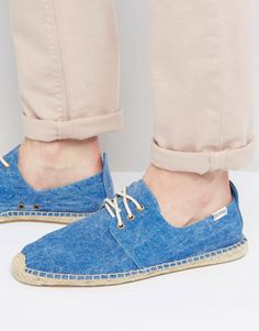 SOLUDOS DERBY LACE UP MESH ESPADRILLES - BLUE. #soludos #shoes #