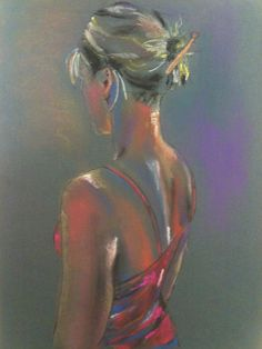 Hennessyart.ie. Figure portrait from model. Soft pastel.