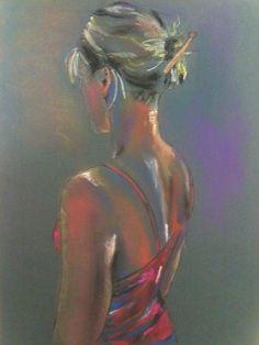 Hennessyart.ie. Figure portrait from model. Soft pastel.