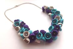 Modern Necklace Trendy Colors Polymer Clay Jewelry by polyclayday