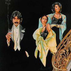 Tony Orlando and Dawn art by drew struzan