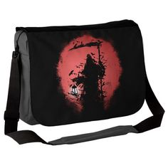 "Awesome gothic messenger bag!   ""This fab Lantern Reaper messenger bag is inspired by the bringer of death, the Grim Reaper, that figure we both fear and are endlessly fascinated by."""