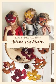 Autumn Leaf Peepers Autumn Leaf Peepers – Our Homeschooling Life and Nature Exploration Autumn Leaves Craft, Autumn Art, Autumn Activities For Kids, Craft Activities, Summer Activities, Family Activities, Fall Crafts For Kids, Diy Crafts For Kids, Kids Nature Crafts
