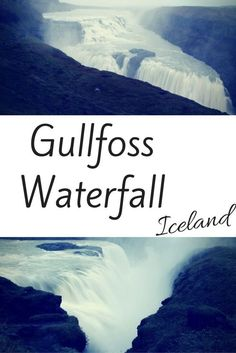 The Gullfoss Waterfall Iceland is one of the most impressive waterfall in Iceland - Part of the Golden Circle, the water from the glacier falls in various steps and you can get very close! Click through for more Photos, video and practical info.: