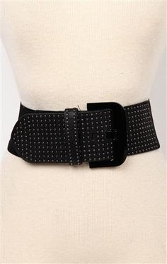 deb shops stretch #belt with studded front $8.17
