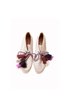 Ulla Johnson (@ullajohnson) Magres Moccasin | Hand-stitched detail | Handmade tassels | Ethically made in Peru
