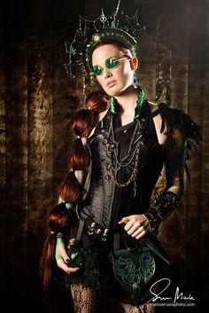 Steampunk dark beauty #goth #steampunk