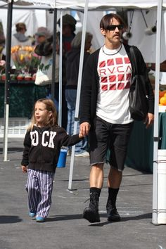 Red Hot Chili Dad! Anthony Kiedis and son Everly