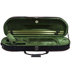 SKY Full Size Premium Halfmoon Lightweight Violin Hard Case With Hygrometer