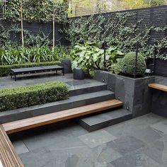 Contemporary Garden Design, Small Garden Design, Patio Design, Landscape Design, Garden Modern, Modern Gardens, Courtyard Design, Backyard Designs, Modern Design