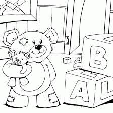 Image result for cute teddy bear in bed coloring picture