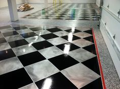 Atlanta Concrete Artist is a professional Atlanta decorative concrete contractor that provides Portfolio photos of past concrete flooring and wall projects. Garage Shed, Man Cave Garage, Garage House, Diy Garage, Garage Workshop, Dream Garage, Garage Doors, Garage Floor Epoxy, Epoxy Floor
