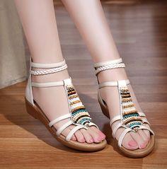 Beading Rhinestone Thong Women s Flat Flops Sandals 939079e82369