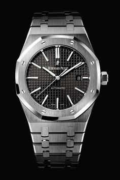 Buy Audemars Piguet Royal Oak Self Winding Stainless Steel Watches, authentic at discount prices. Complete selection of Luxury Brands. All current Audemars Piguet styles available. Audemars Piguet Gold, Audemars Piguet Watches, Seiko Watches, Tag Watches, G Shock Watches, Sport Watches, Cool Watches, Unusual Watches, Patek Philippe