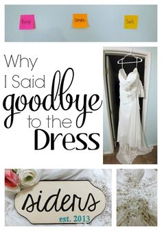 Why I Said Goodbye to the Dress: Selling my wedding dress is not a decision I took lightly. We're in major organization mode around here as our house gets listed for sale TOMORROW! Money Saving Challenge, Money Saving Tips, Wedding Tips, Wedding Day, Sell Your Wedding Dress, Event Planning, Wedding Planning, I Say Goodbye, Saving Ideas