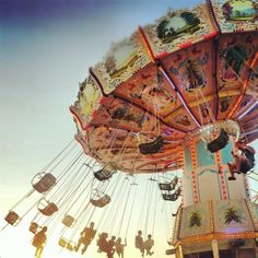 The old fashioned swing ride at The Secret Garden Party 2012