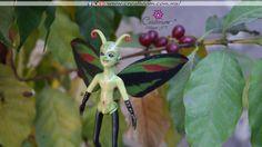 Hada en fimo Animals, Woods, Butterflies, Faeries, Fimo, Animales, Animaux, Animal, Animais
