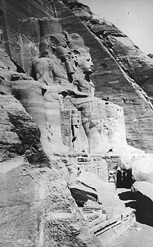 Abu Simbel on original site,  photo 1900