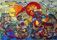 canadian aboriginal art - Daphne Odjig- Member of the Indian Group of Seven Daphne Odjig, Kunst Der Aborigines, Woodland Art, Aboriginal Artists, Small Drawings, Indigenous Art, Canadian Artists, Native Art, Art History