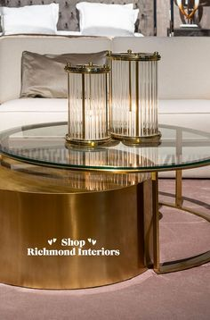 Salontafel Orlan set van 2 is een luxe salontafel in brushed gold met glazen top. Het speelse design past perfect in een modern, klassiek interieur. #stijlvolwonen #modernwonen #stoerwonen #landelijkwonen #industrieelwonen #modernrustic #interiorwarrior #interiordesign #binnenkijken #showhome #interieurinspiratie #myinterior #interior123 #interieuraddict #livingroomdecor #homeinspo #livingroom #homedeco #interior4all #homedecoration #showhometop5 #easyinterieur #barneveld #sohomenl… Richmond Interiors, Furniture, Home Decor, Decoration Home, Room Decor, Home Furnishings, Home Interior Design, Home Decoration, Interior Design